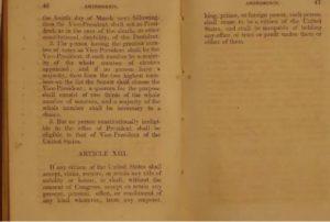 13ème amendement constitution américaine